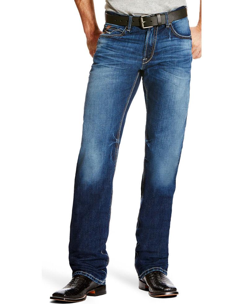 Ariat Men's M2 Cole Dark Wash Bootcut Jeans, Indigo, hi-res