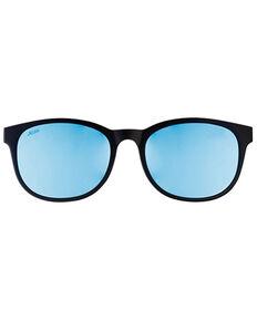 Hobie Bells Satin Black & Cobalt Mirror PC Polarized Lenses Clip , Black, hi-res