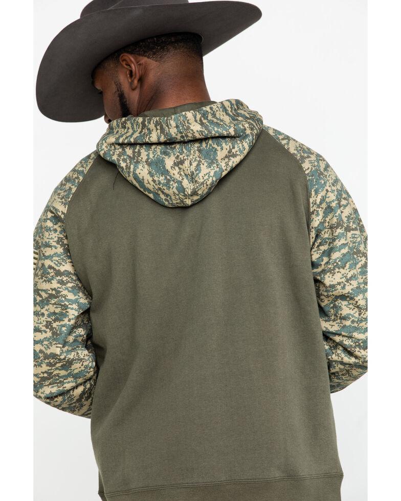 Ariat Men's Sage Camo Patriot Hooded Sweatshirt , Green, hi-res