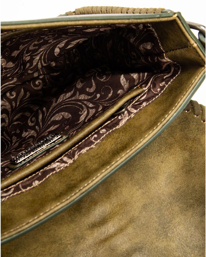 Shyanne Women's Floral Embroidered Messenger Bag, Olive, hi-res