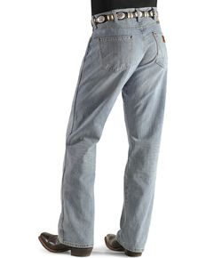 Wrangler Men's Crest Retro Boot Cut Jeans - Tall, Lt Denim, hi-res