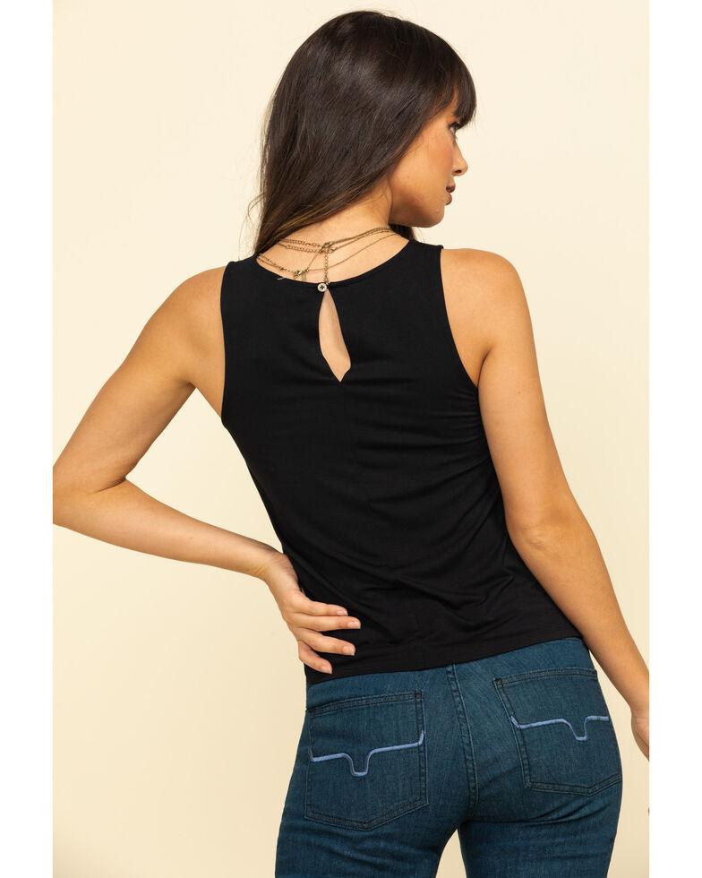 Rock & Roll Denim Women's Black Lace Tank Top , , hi-res