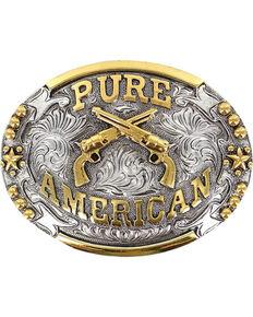 Cody James® Pure American Buckle, Silver, hi-res