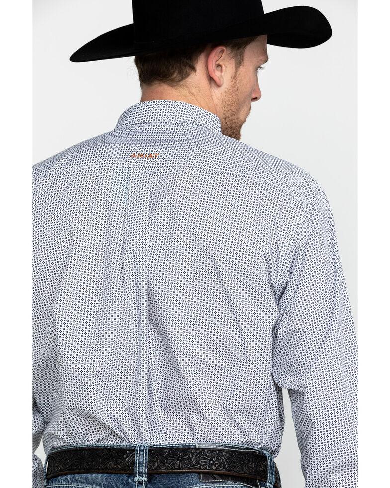 Ariat Men's Wrinkle Free Vaness Print Long Sleeve Western Shirt, White, hi-res