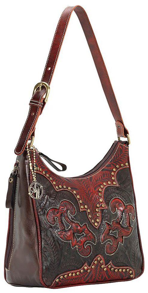 American West Annie's Secret Collection Concealed Carry Shoulder Bag, Black, hi-res