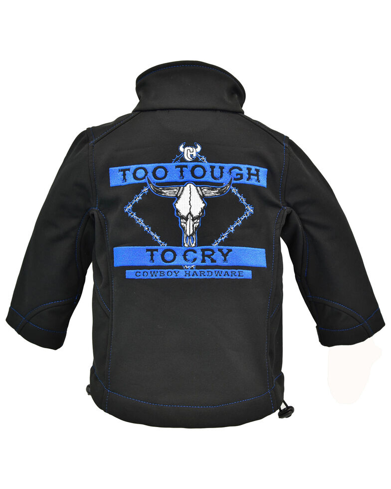Cowboy Hardware Toddler Boys' Too Tough To Cry Embroidered Zip Jacket , Black, hi-res