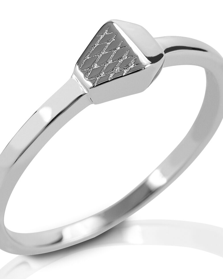 Kelly Herd Women's Horseshoe Nail Ring , Silver, hi-res