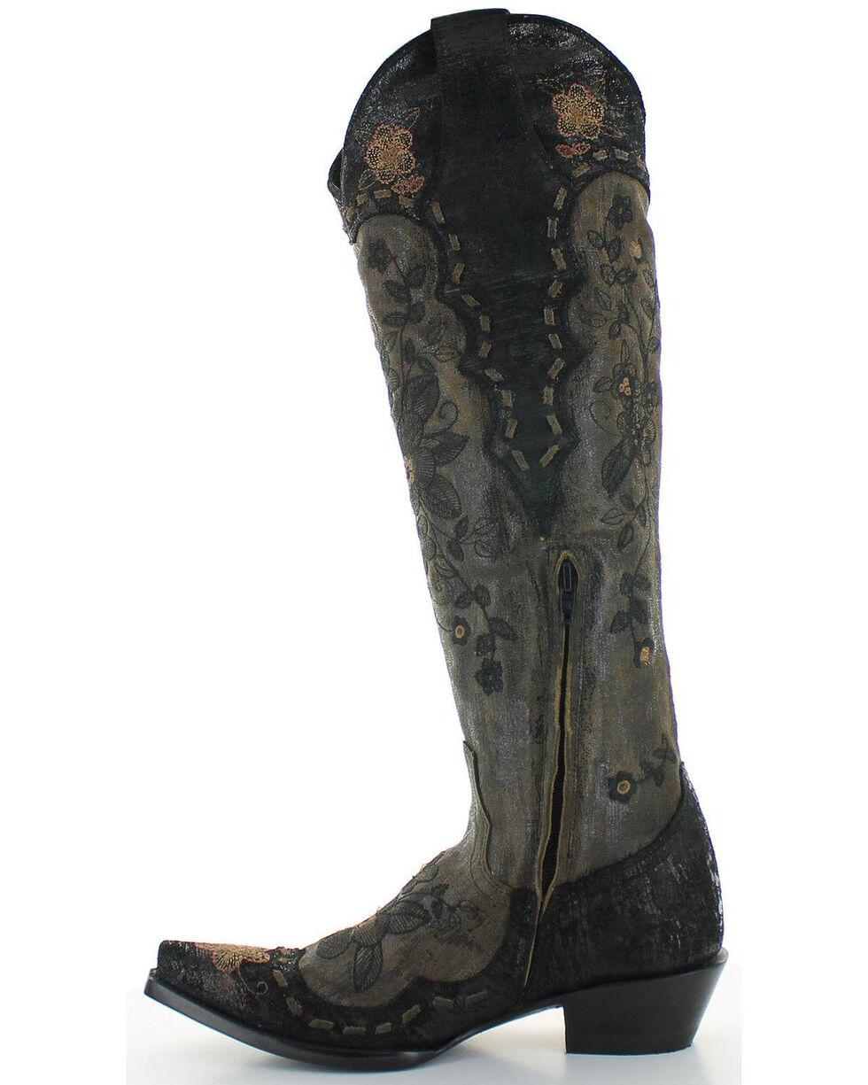 Old Gringo Women's Bonnie Mayra Boots - Snip Toe , Black, hi-res