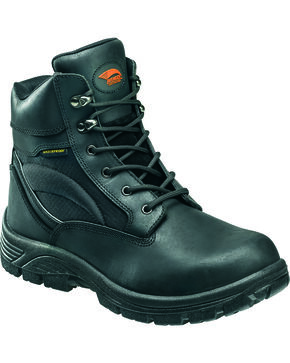 "Avenger Men's Waterproof 6"" Lace-Up EH Work Boots - Round Toe, Black, hi-res"