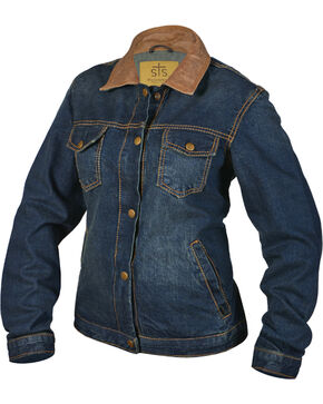 STS Ranchwear By Carroll Women's Ladies Denim Jumper Jacket , Blue, hi-res
