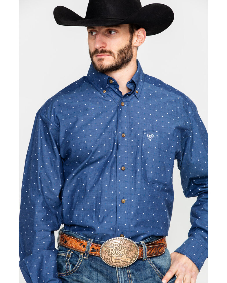 Ariat Men's Gatham Geo Print Long Sleeve Western Shirt , , hi-res