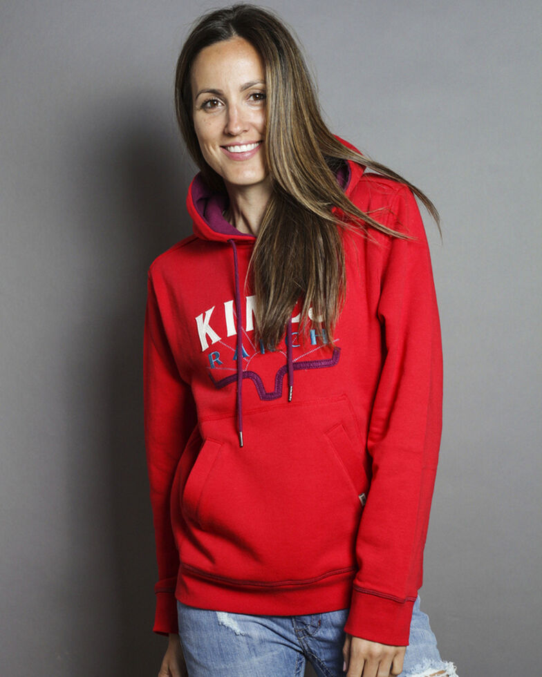 Kimes Ranch Women's Southwest Hoodie , Red, hi-res