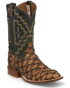 Tony Lama Men's Leviathan Chocolate Western Boots - Square Toe, Brown, hi-res