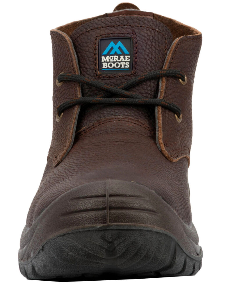 McRae Men's Safety Work Shoes - Steel Toe, Brown, hi-res