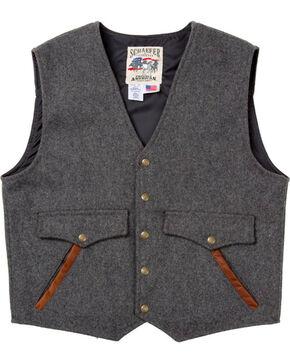 Schaefer Outfitter Men's Charcoal Stockman Melton Wool Vest, Charcoal, hi-res