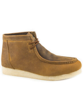 Roper Men's Brown Gum Sticker Chukka Shoes , Brown, hi-res