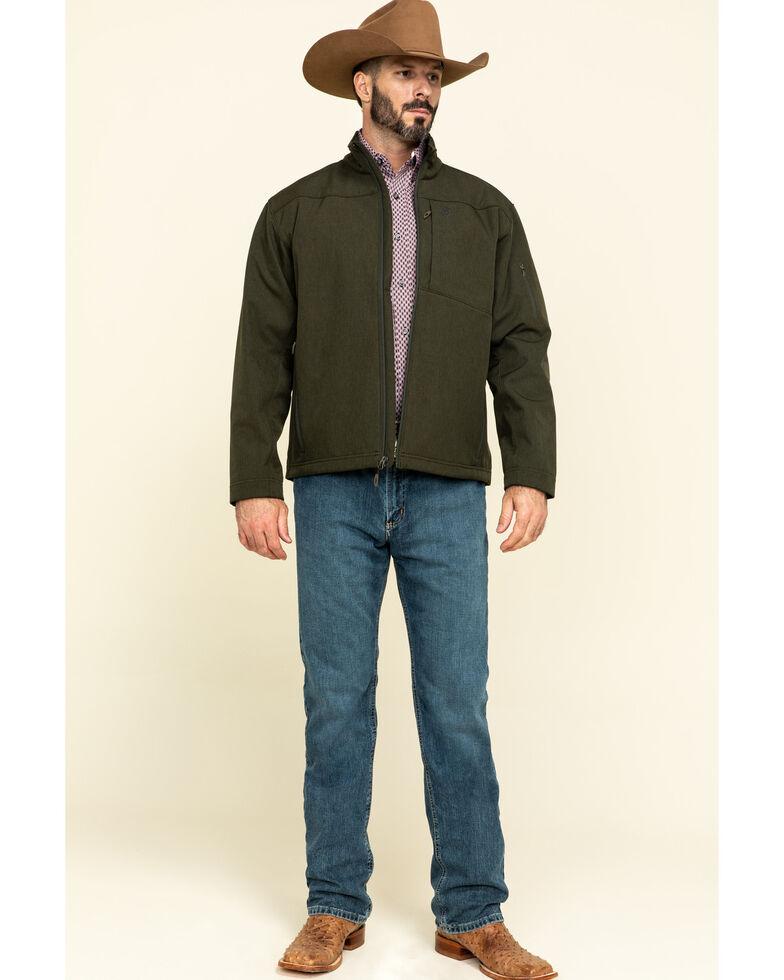 Ariat Men's Olive Heather Vernon 2.0 Softshell Jacket , Green, hi-res