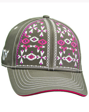 Cowgirl Hardware Women's Aztec Snap Cap, Black, hi-res