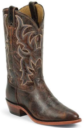 Tony Lama Men's Americana Leather Western Boots - Medium Toe, Brown, hi-res