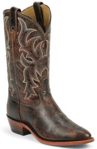 Tony Lama Men's Americana Leather Western Boots - Medium Toe, Brown, hi-res