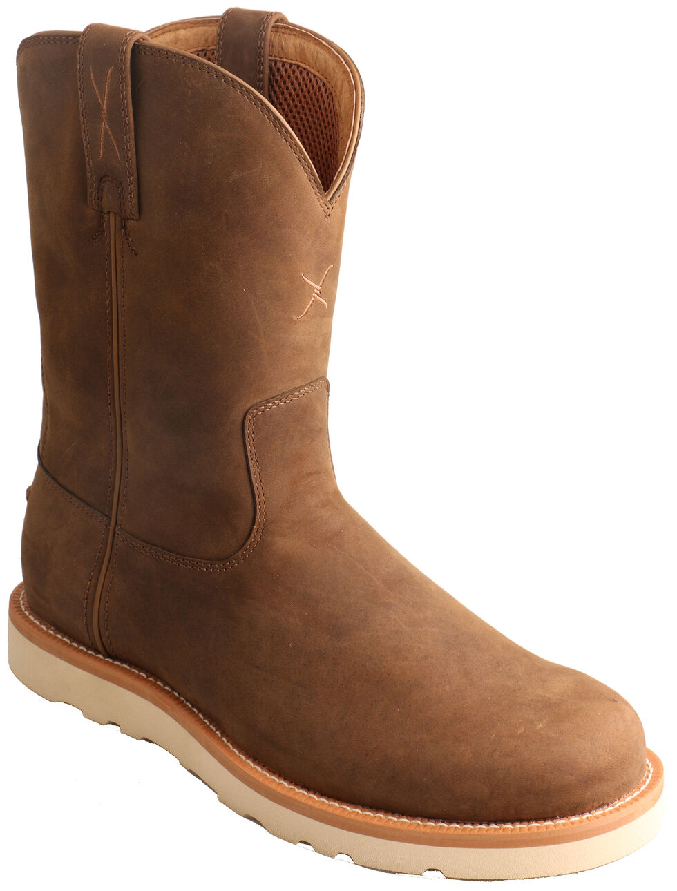 Twisted X Distressed Saddle Casual Boots - Round Toe , Brown, hi-res