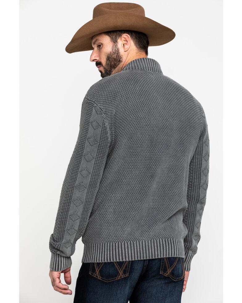 Moonshine Spirit Men's Dearpoint Full Zip Cable Knit Sweatshirt , Charcoal, hi-res