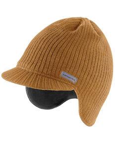 Carhartt Men's Brown Knit Visor Beanie , Brown, hi-res