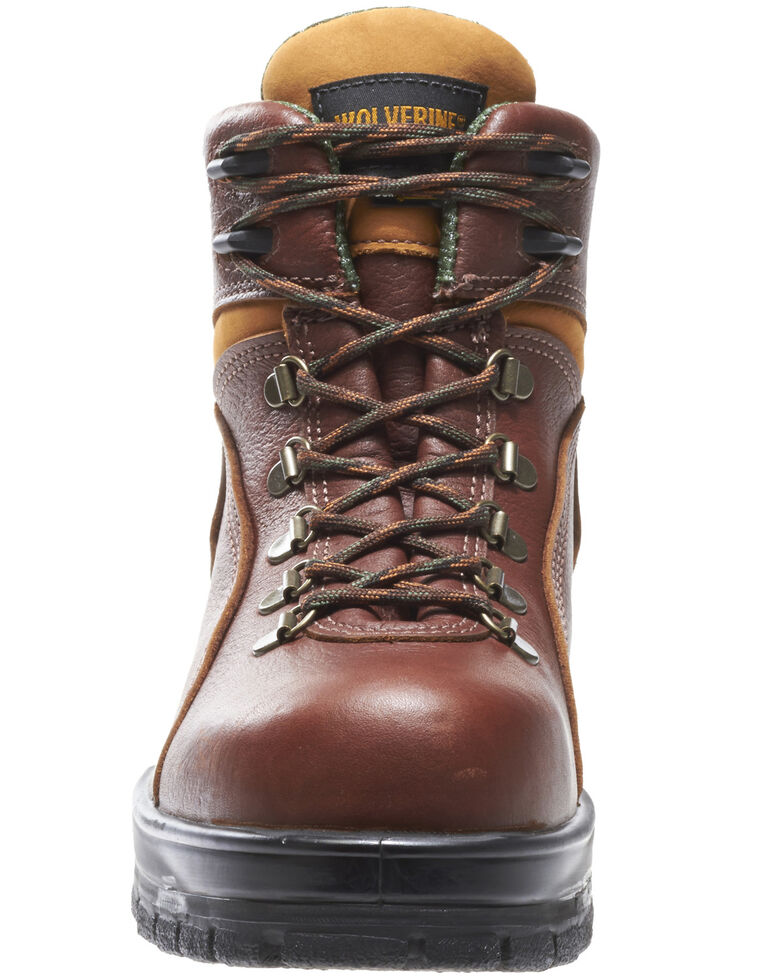 Wolverine Men's Durashocks Waterproof Work Boots - Steel Toe, Brown, hi-res