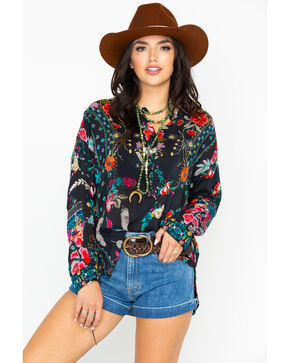 Johnny Was Women's Ellamo Boxy Top, Multi, hi-res