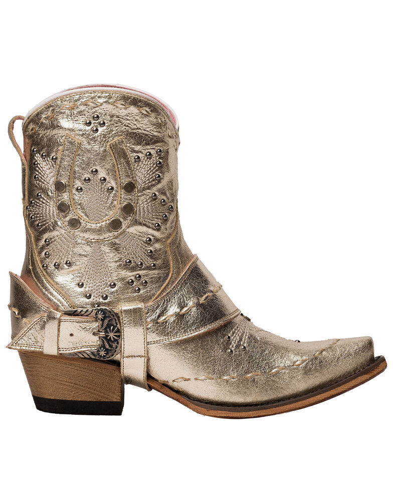 Junk Gypsy by Lane Women's Silver Lady Fortuna Fashion Booties - Snip Toe, Silver, hi-res