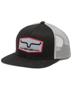 Kimes Ranch Black Replay Trucker Mesh Cap , Black, hi-res
