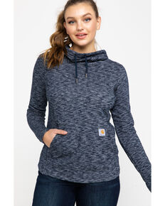 Carhartt Women's Newberry Cowl Neck Hoodie, Navy, hi-res