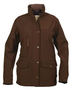 STS Ranchwear Women's Brazos Softshell Brown Barn Jacket, Brown, hi-res