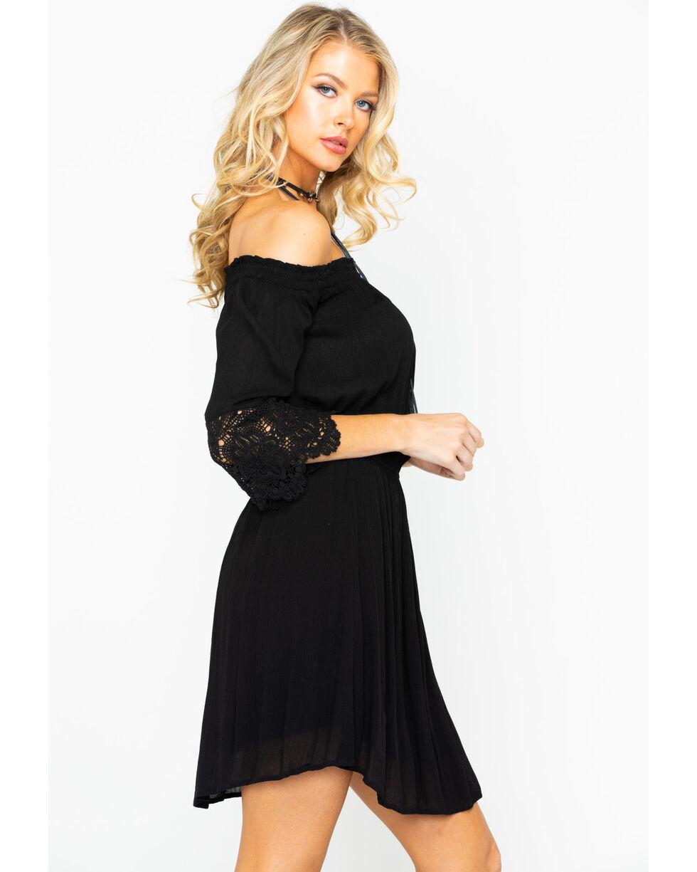 Panhandle Women's Off Shoulder Lace Dress, Black, hi-res