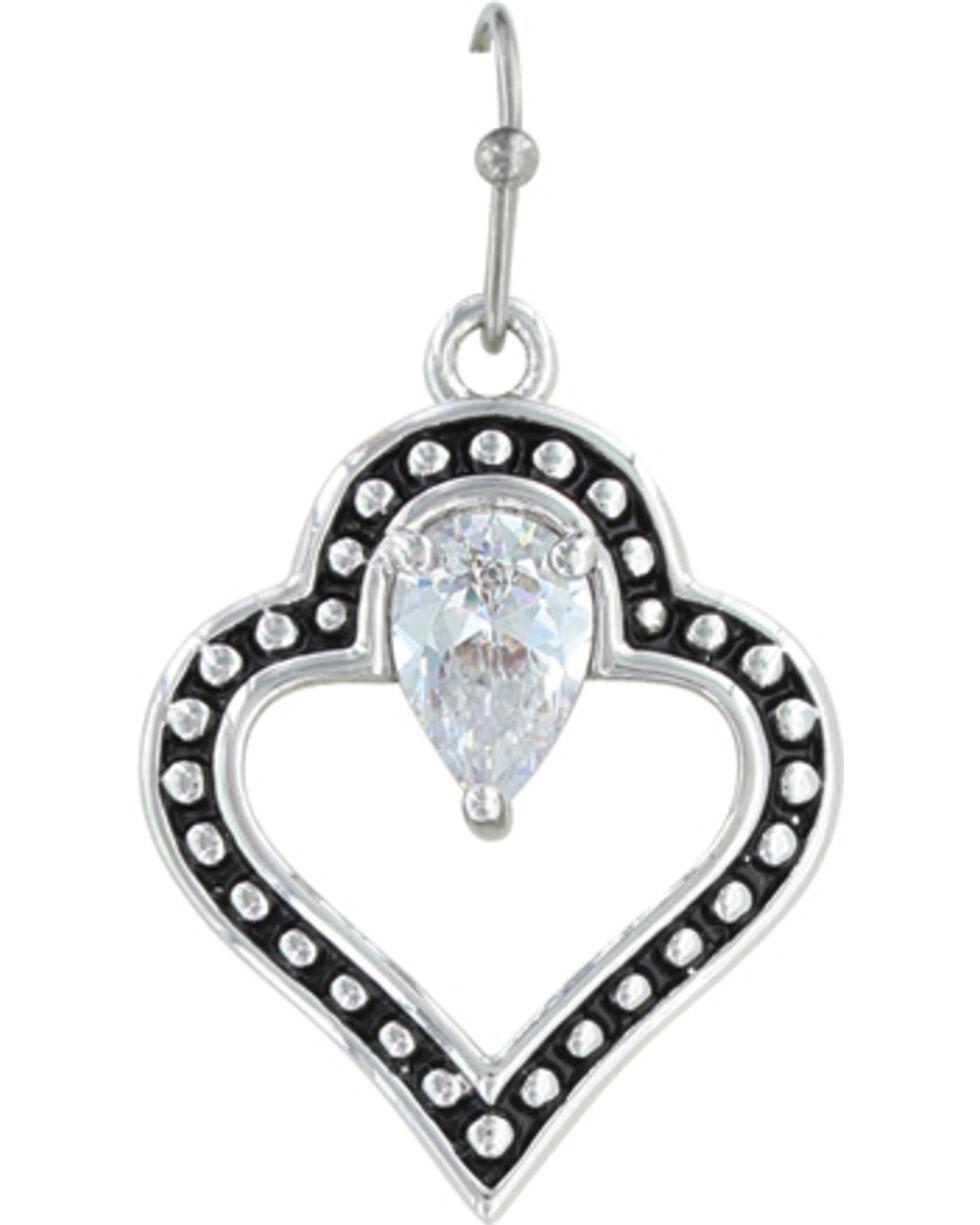 Montana Silversmiths Women's Spade Of Hearts Earrings , Silver, hi-res