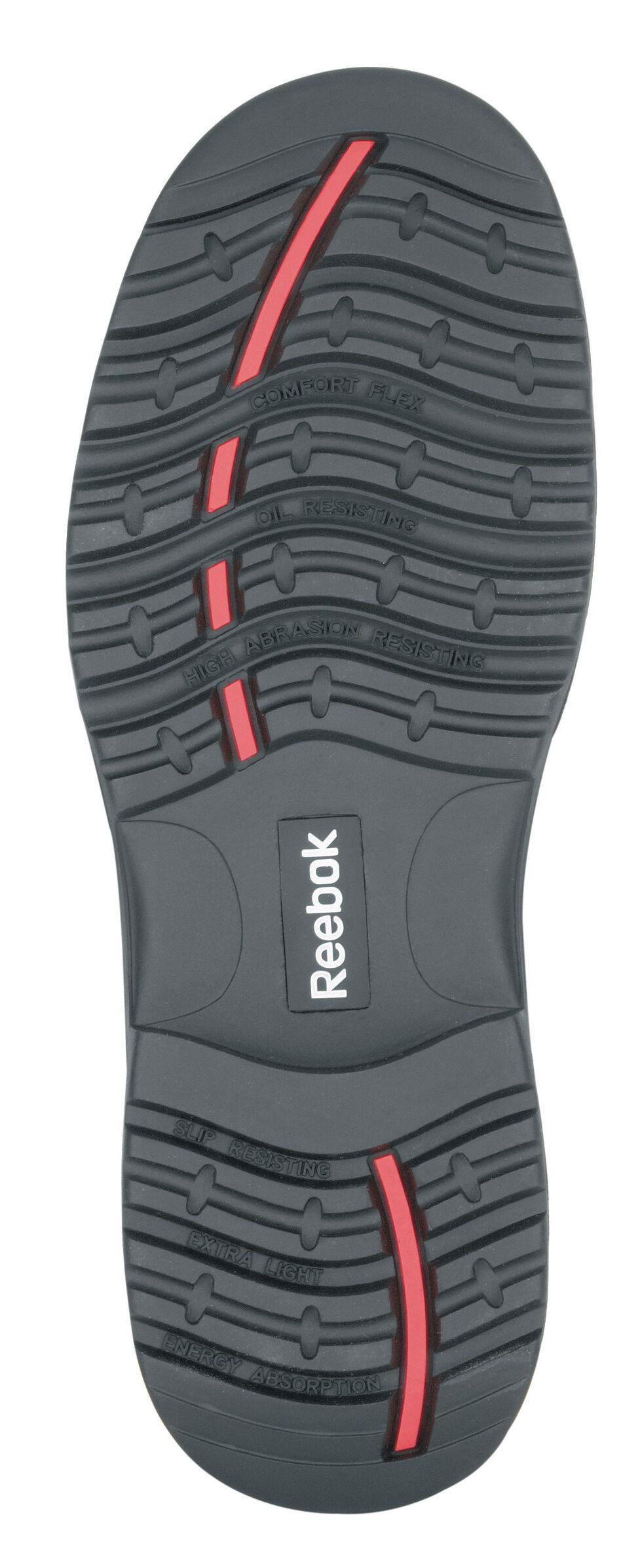 "Reebok Men's Trainex 6"" Lace-Up Internal Met Guard Work Boots - Composite Toe, Black, hi-res"