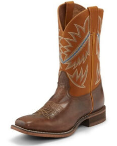 Nocona Men's Deputy Dusty Western Boots - Square Toe, Brown, hi-res