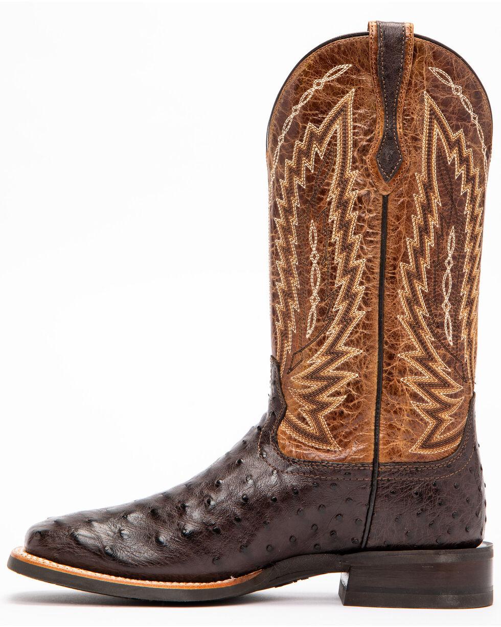 Ariat Men's Brown Platinum Full Quill Ostrich Boots - Square Toe , Brown, hi-res