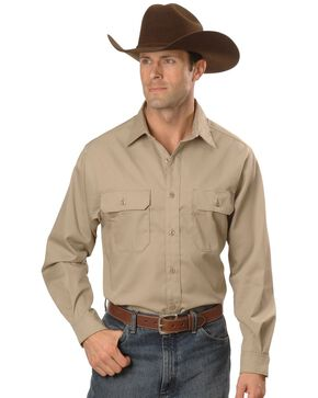Carhartt Twill Button Work Shirt, Khaki, hi-res