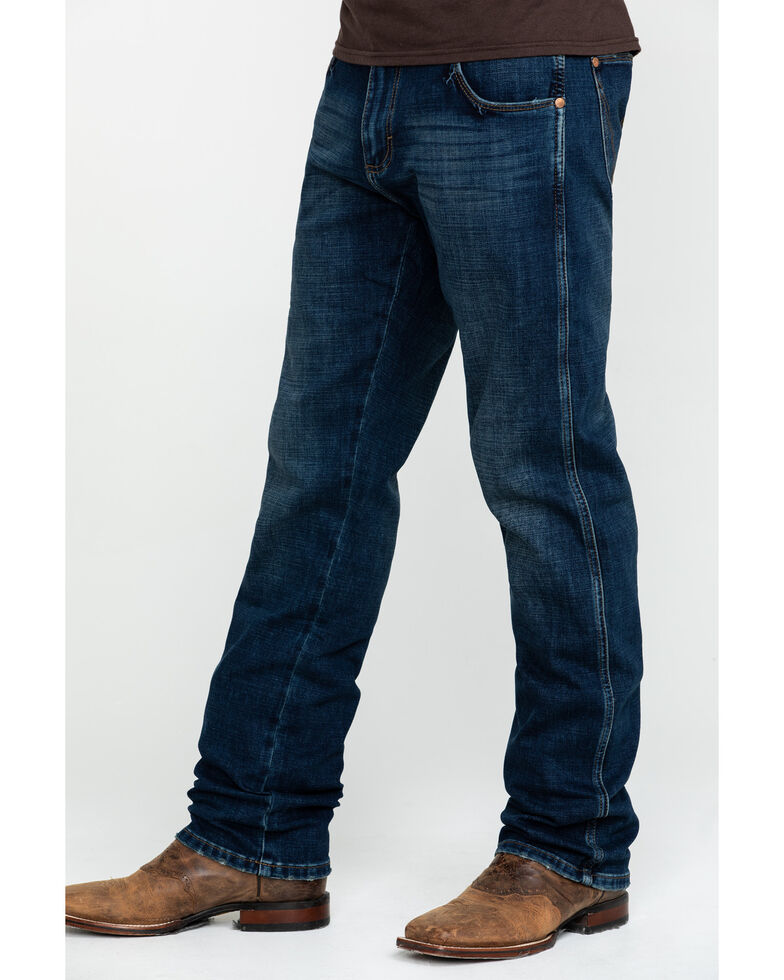 Wrangler Retro Men's Jarrell Premium Slim Straight Jeans , Blue, hi-res