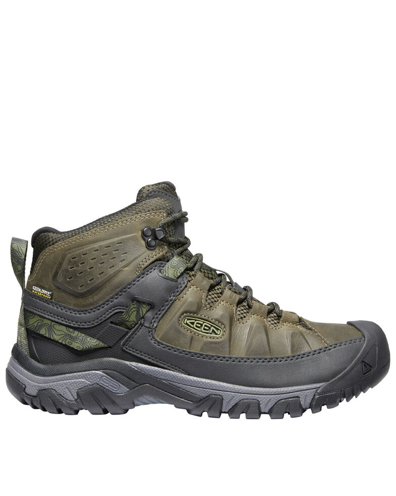 Keen Men's Targhee III Waterproof Hiking Boots - Soft Toe, Green, hi-res