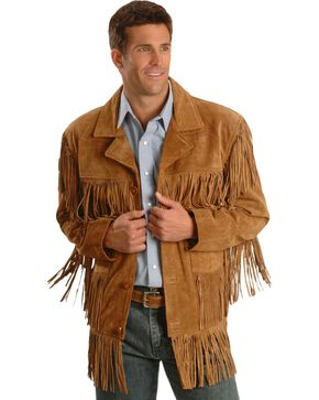 Liberty Wear Fringe Suede Leather Jacket, Tobacco, hi-res