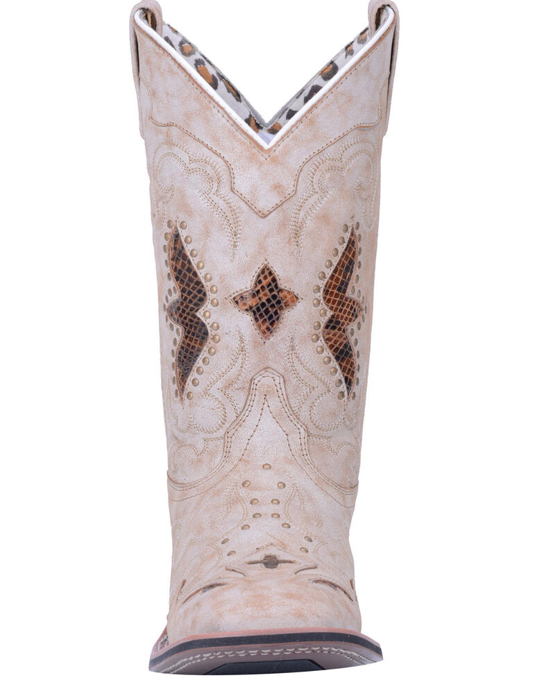 Laredo Women's Spellbound Western Boots - Wide Square Toe, Tan, hi-res