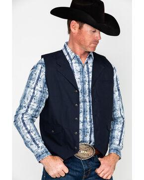 Moonshine Spirit Men's Sliver Dollar Slub Canvas Vest , Black, hi-res