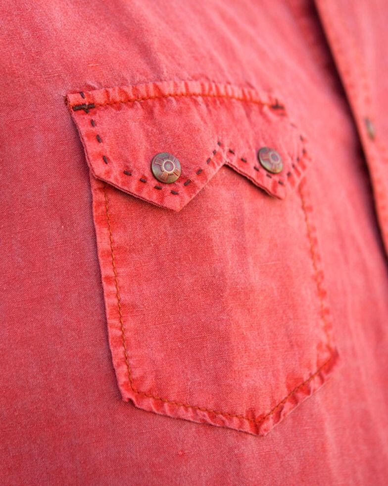 Ryan Michael Men's Red Saw Tooth Pick Stitch Shirt , Red, hi-res