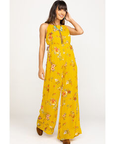Free people Women's Mustard Georgia Jumpsuit, Dark Yellow, hi-res