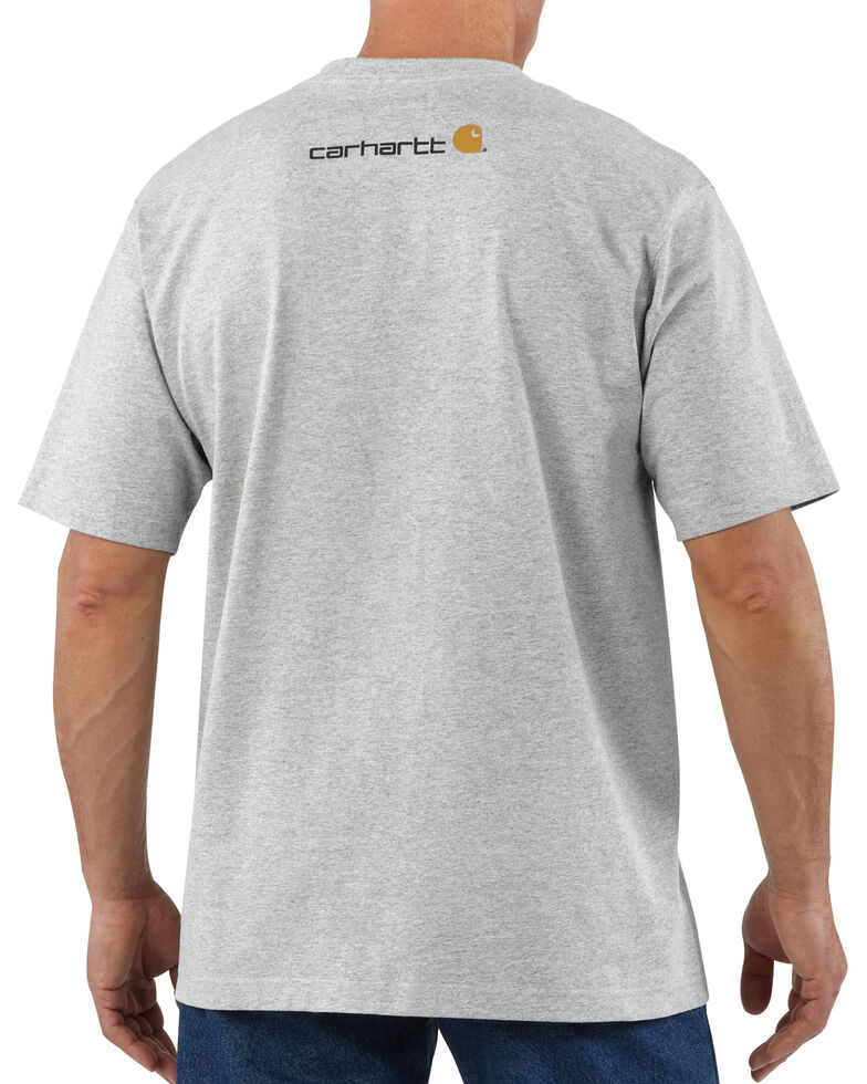 Carhartt Signature Logo Shirt Sleeve Shirt - Big & Tall, Hthr Grey, hi-res