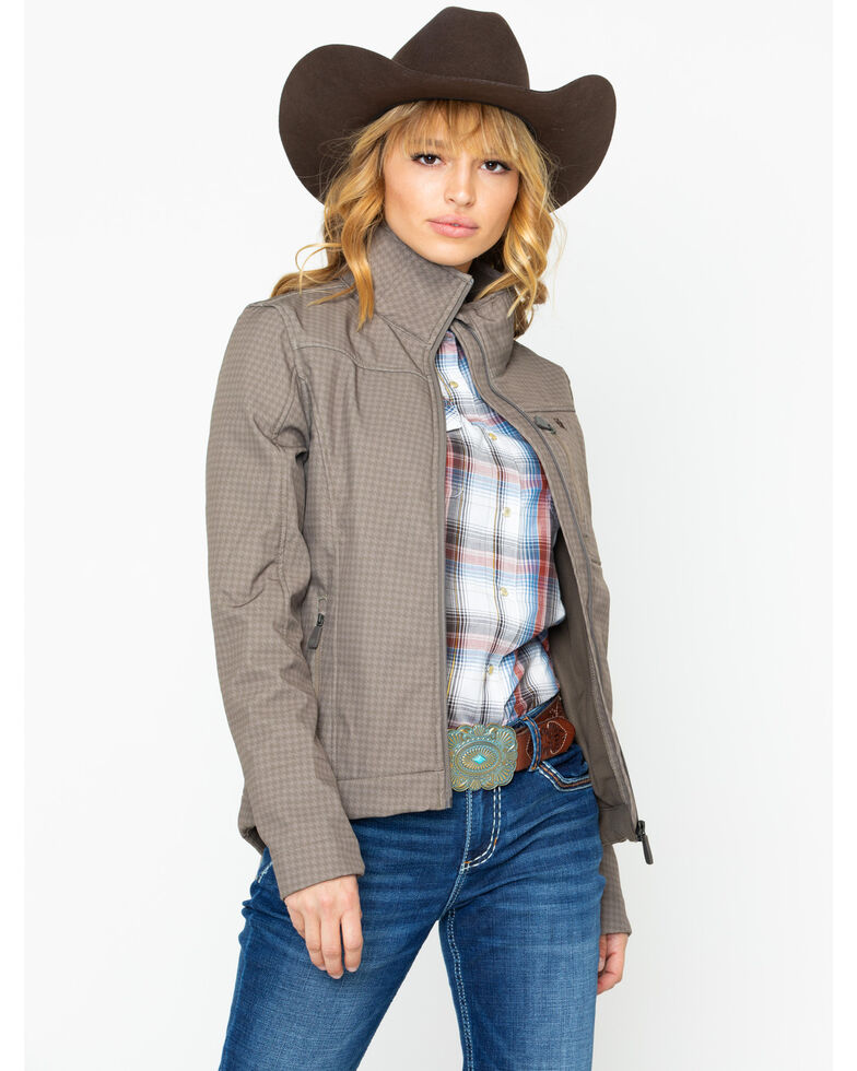 Cinch Women's Brown Softshell Concealed Carry Jacket, Brown, hi-res