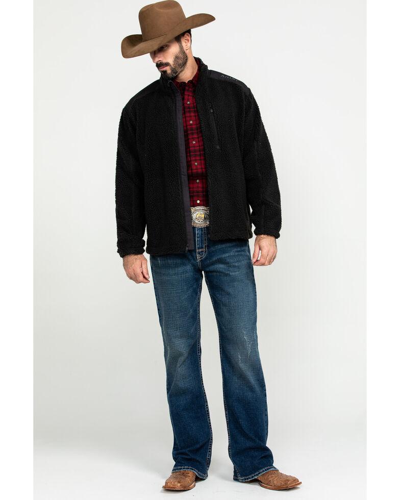 Ariat Men's El Capitan Pile Fleece Zip-Up Sweater , Green, hi-res