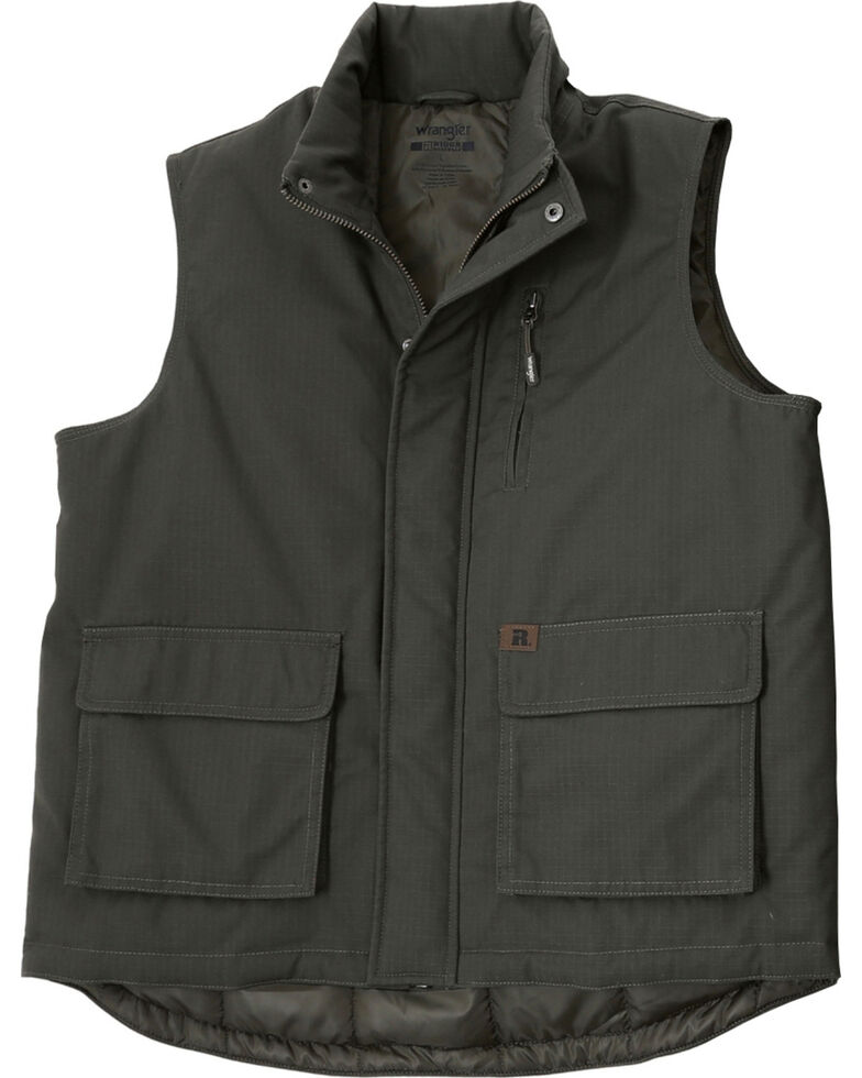 Wrangler Riggs Men's Foreman Work Vest, Loden, hi-res